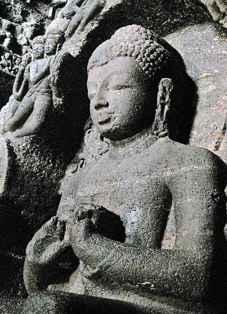 Buddha statue at Ellora
