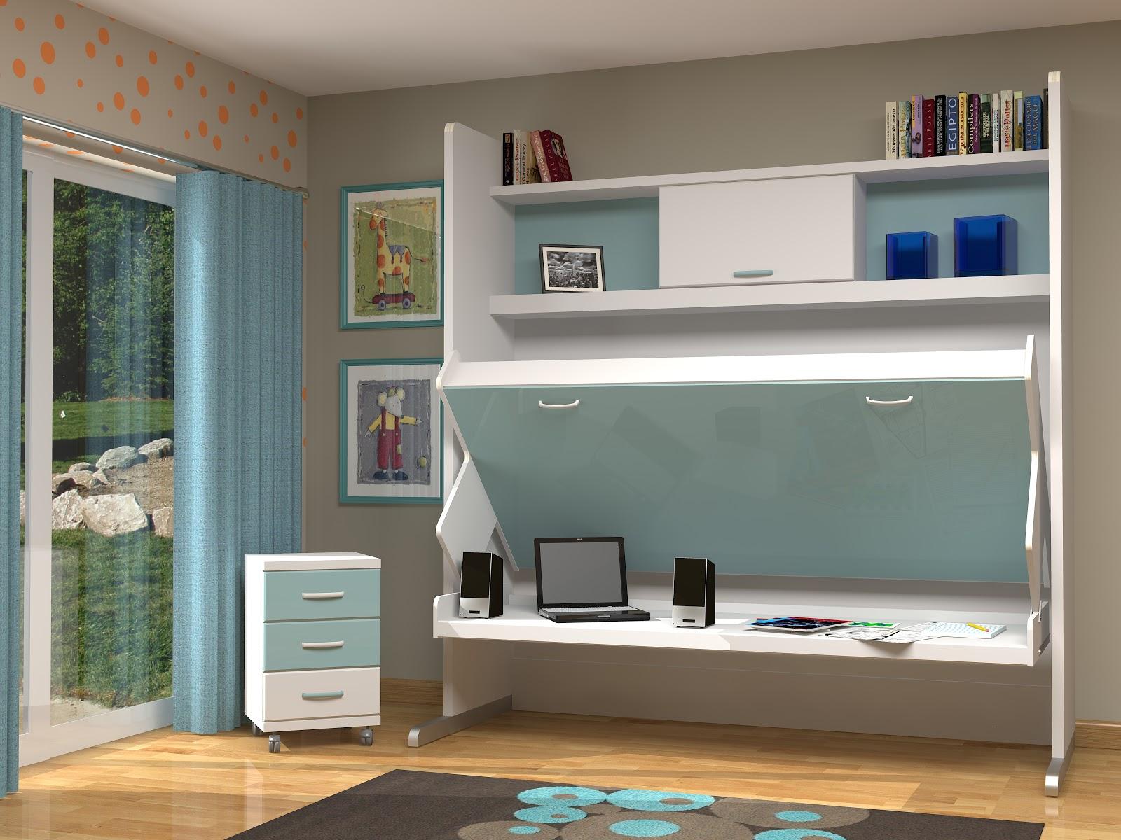 Muebles juveniles dormitorios infantiles y habitaciones - Fabricar cama abatible ...
