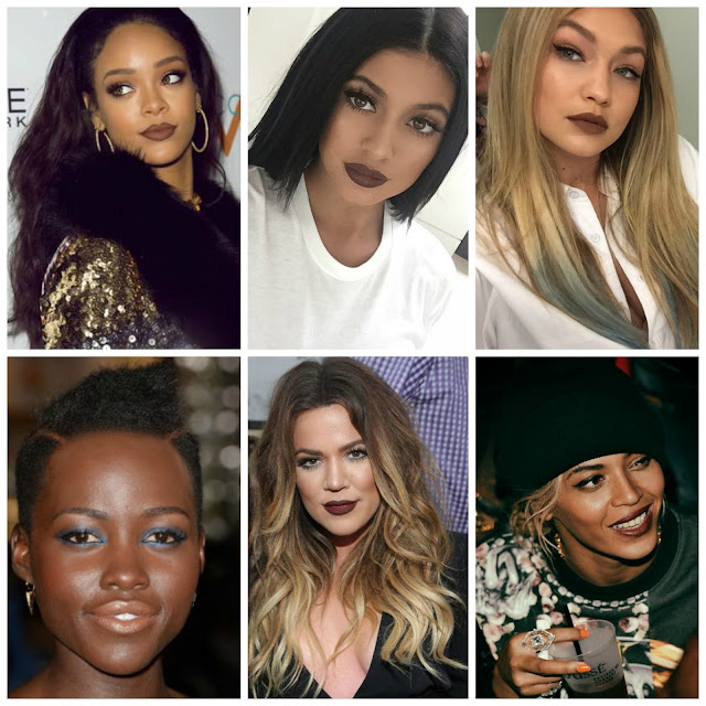 Celebs Brown Lipstick