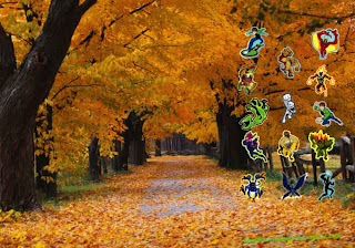 Ben 10 Ten desktop Wallpapers Alien Monsters in Autumn Trees desktop wallpaper