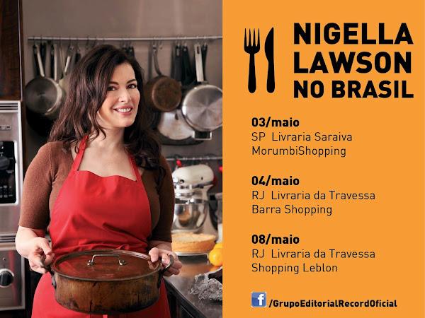 Best Seller traz Nigella Lawson ao Brasil: Eventos em São Paulo e Rio de Janeiro