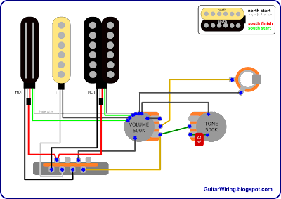 1992 93 Mij Strat Wiring Diagram in addition Wiring Diagram 2 Humbuckers Volume 3 Way Switch moreover Series Parallel Wiring Fender Stratocaster Guitar Forum in addition Rg Strat How To Wire Stratocaster In as well Urban Guitar Wiring Diagram. on strat wiring diagram with humbucker