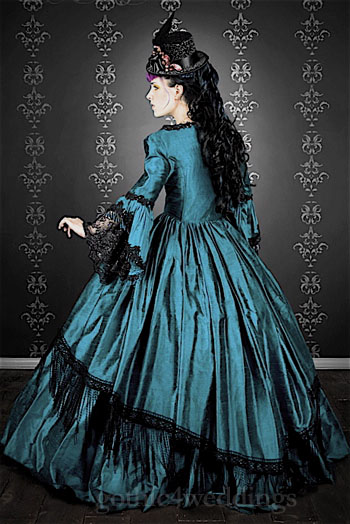 Gothic Victorian Marie Antoinette Wedding Gowns