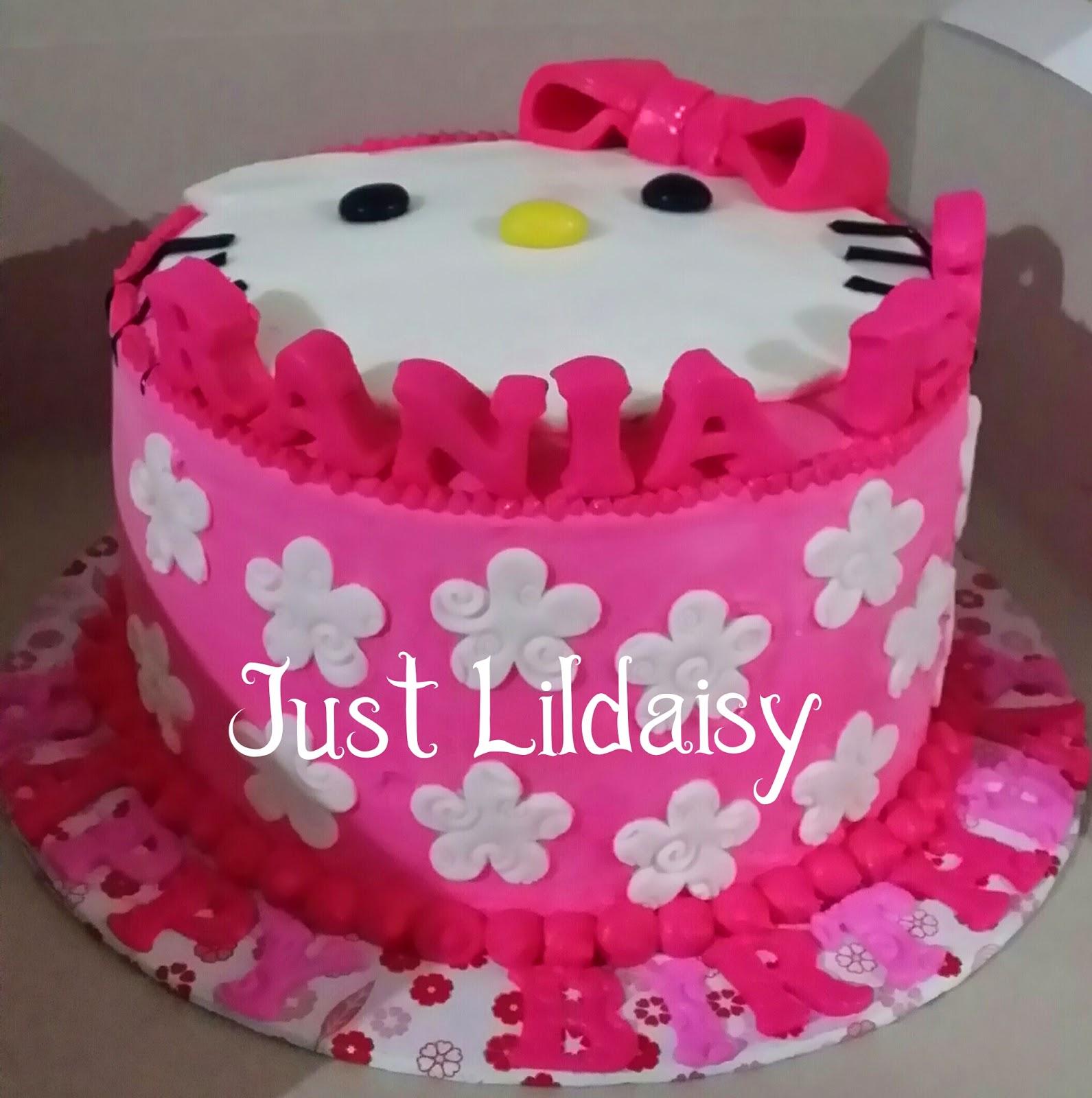 Just Lildaisy Ampang Hello kitty birthday cake and doorgift