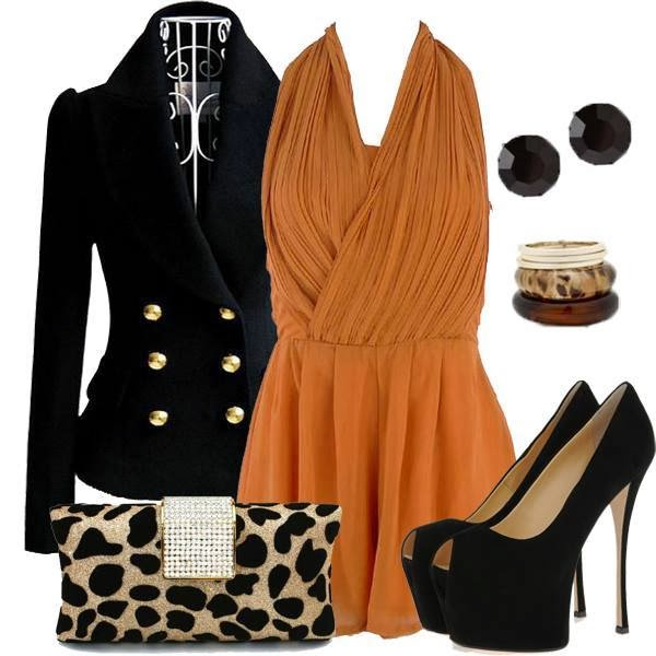 Coat, Shoes, Earrings, Dress...