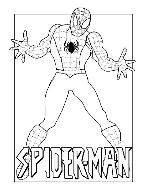 desenho homem aranha para pintar