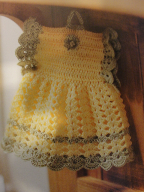 Free Crochet Pattern Dress Potholder : My Crochet Mis Tejidos Dress Potholder Vestido Agarradera ...