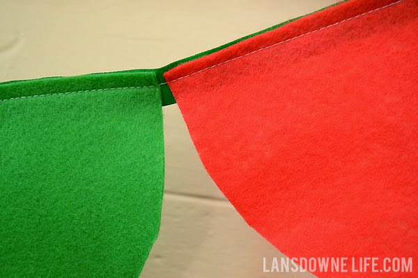 Sewn felt scalloped party banner