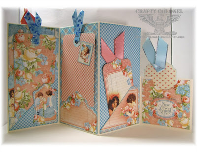Crafty Colonel Donna Nuce, Baby Accordian Tag Mini Album, G45 Precious Memories
