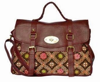 Batik Bagtitude Messenger Sling Bag - Dark Red