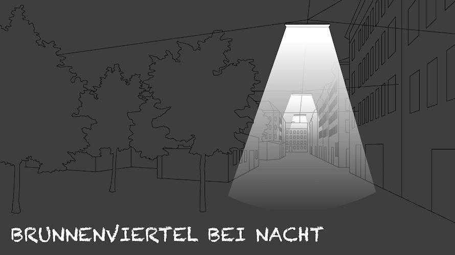 Brunnenviertel bei Nacht - Ein Hörspaziergang