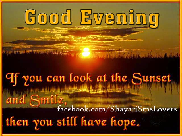 Good Evening Message Suvichar Pictures