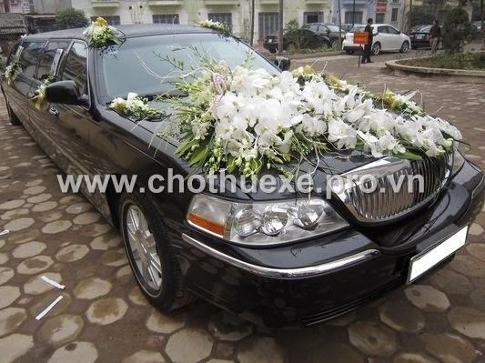 Cho thuê xe cưới siêu Vip Lincol Limosin Krystal tại Đức Vinh
