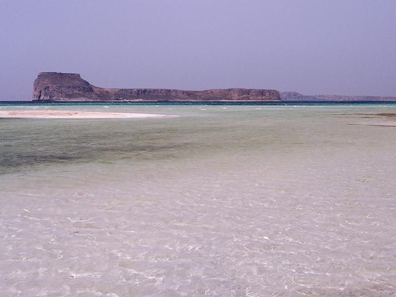 Photo de plage à Phalasarna sur l'île de Crète en Grèce