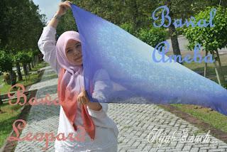 hijab and such, bawal, bawal corak, bawal ameba