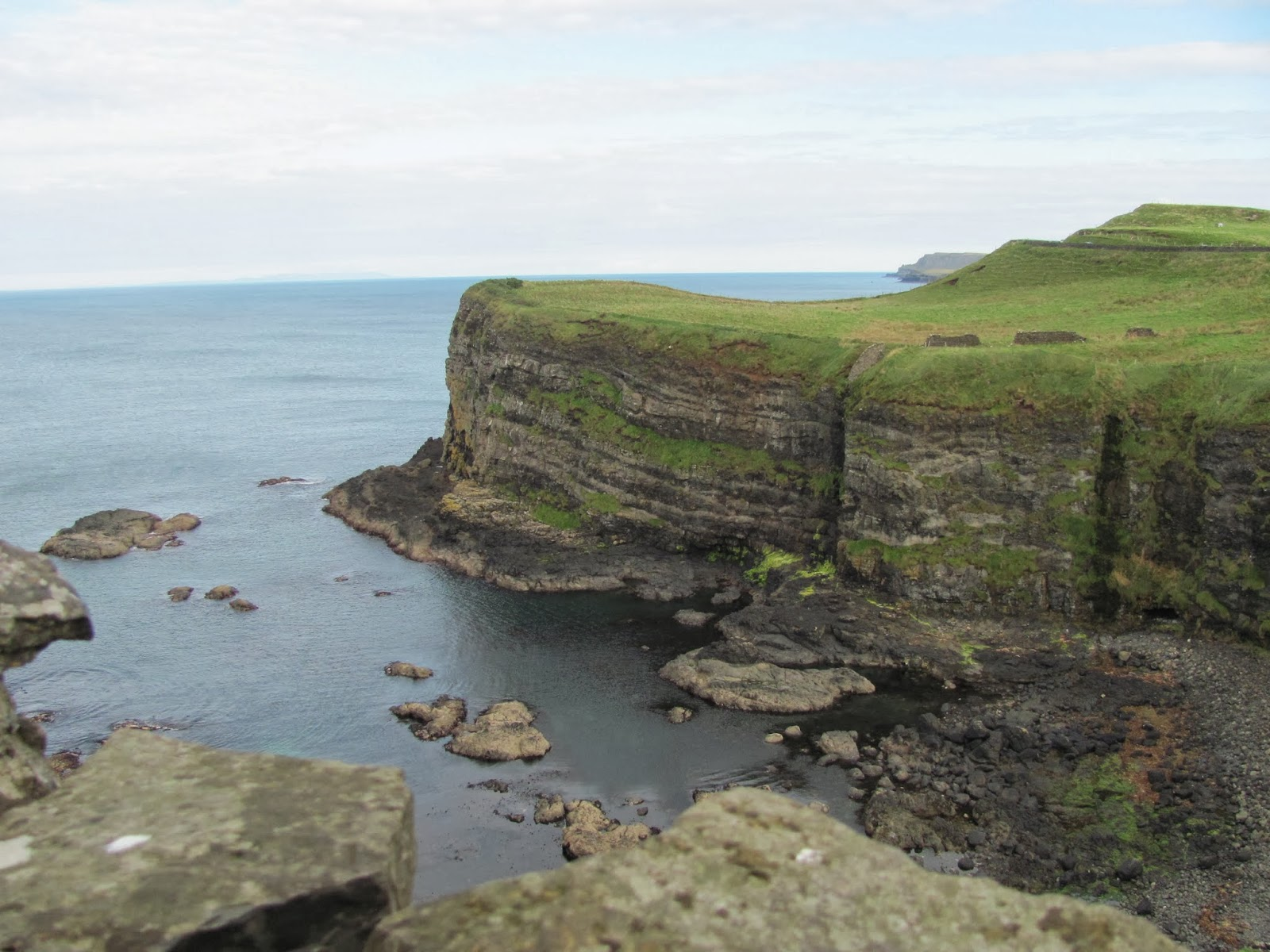 View of the Cliffs from Dunluce Castle