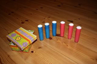 Sound Cylinders Using Containers from Cookie Decorating Sprinkles (Photo from Explore and Express)