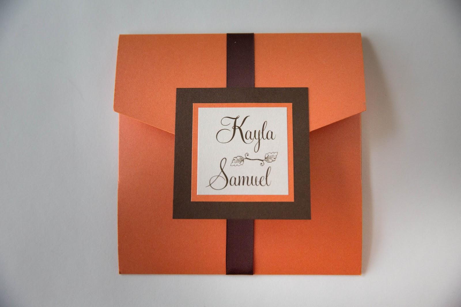 Fall Pocket Invitation :: Baltimore Wedding Invitations - Kindly ...