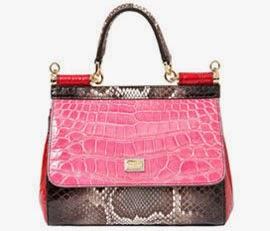 bolsa couro de cobra e crocodilo Dolce & Gabbana para Luisa Via Roma