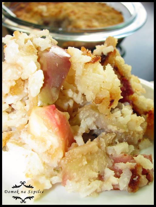 Jabłka z ryżem i cynamonem