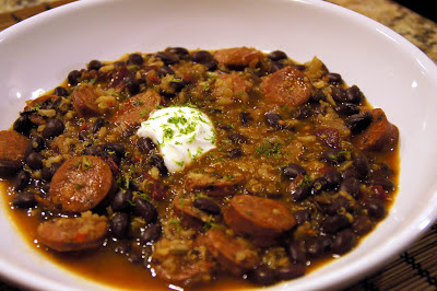Little Bit of Everything: Smoky Black Bean Soup - Secret Recipe Club