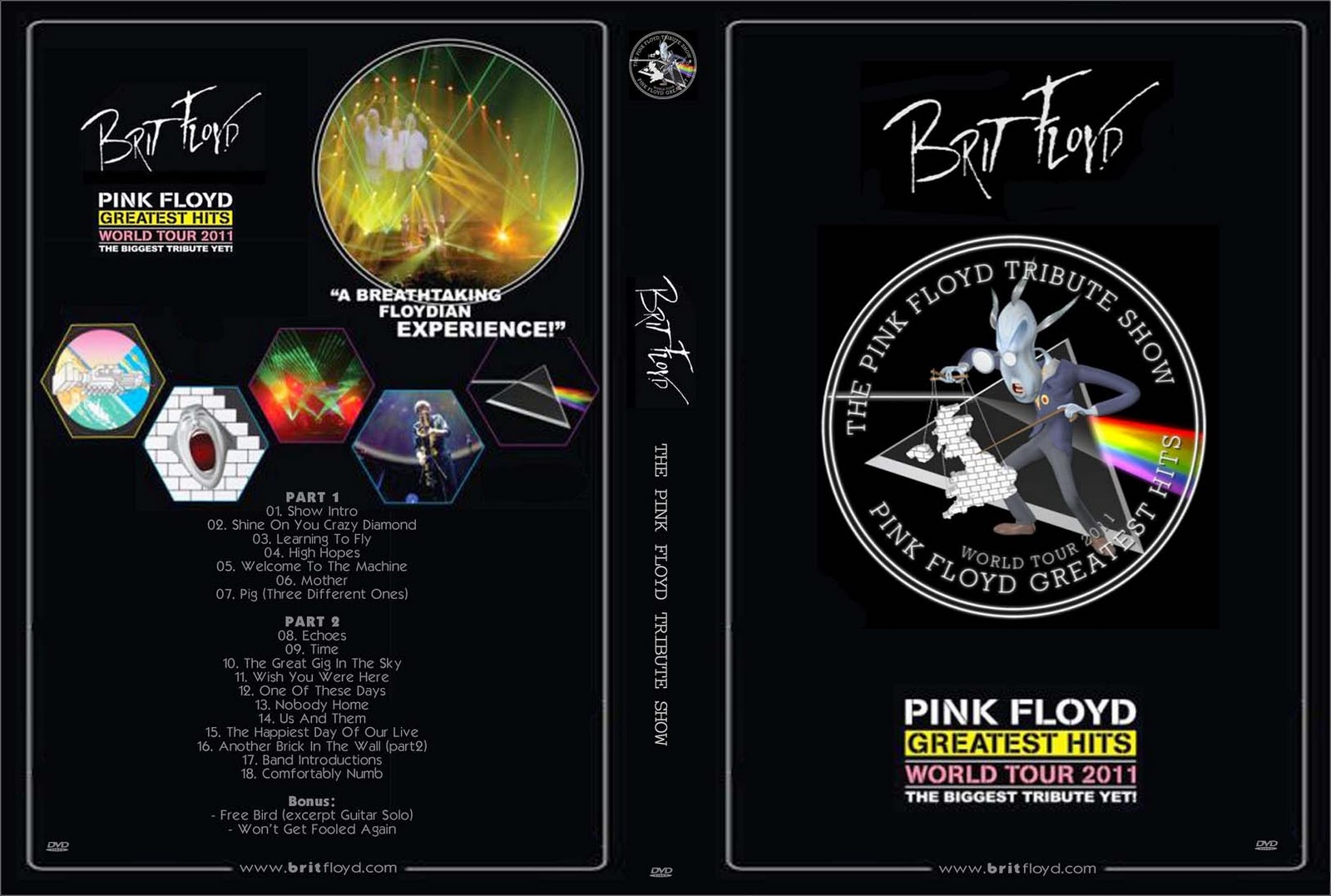 DVD Concert TH Power By Deer 5001 Brit Floyd The Pink Floyd Tribute Show 2011