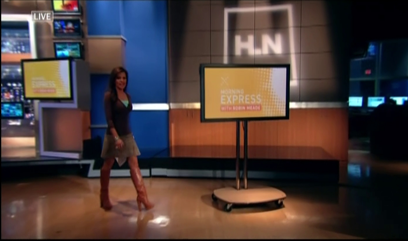 robin meade legs robin meade and black boots