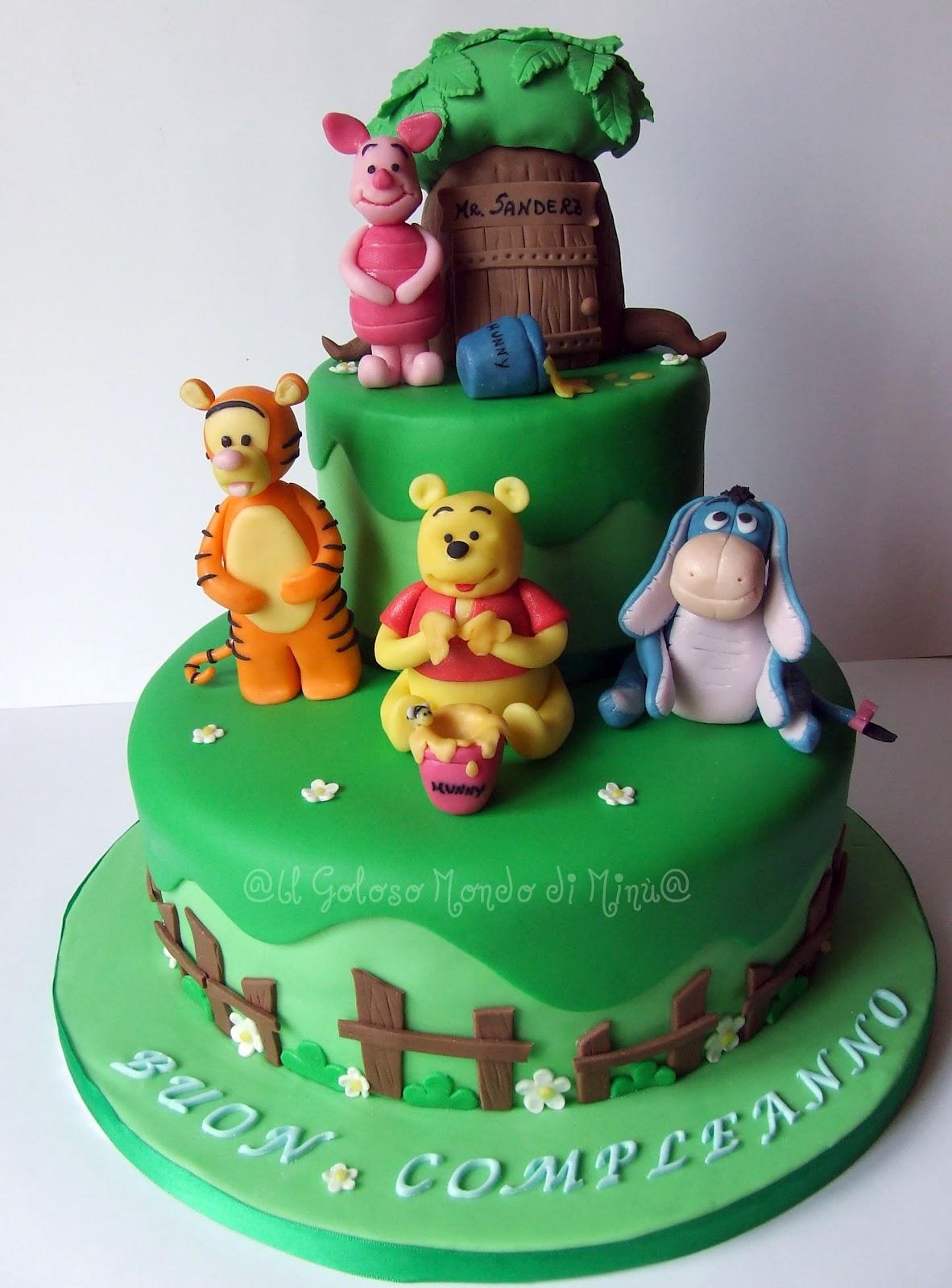 Il goloso mondo di minu 39 winnie pooh e i suoi amici una for Winnie pooh kuchen deko