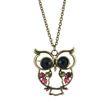 Owl animal pendant necklaces
