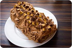 cupcake crazy gem chocolate peanut butter yule log. Black Bedroom Furniture Sets. Home Design Ideas