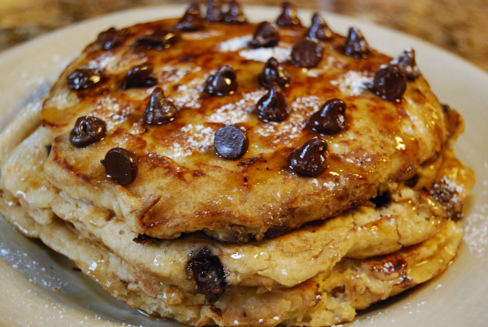Whole Wheat Chocolate Chip Pancakes - Macaroni and Cheesecake
