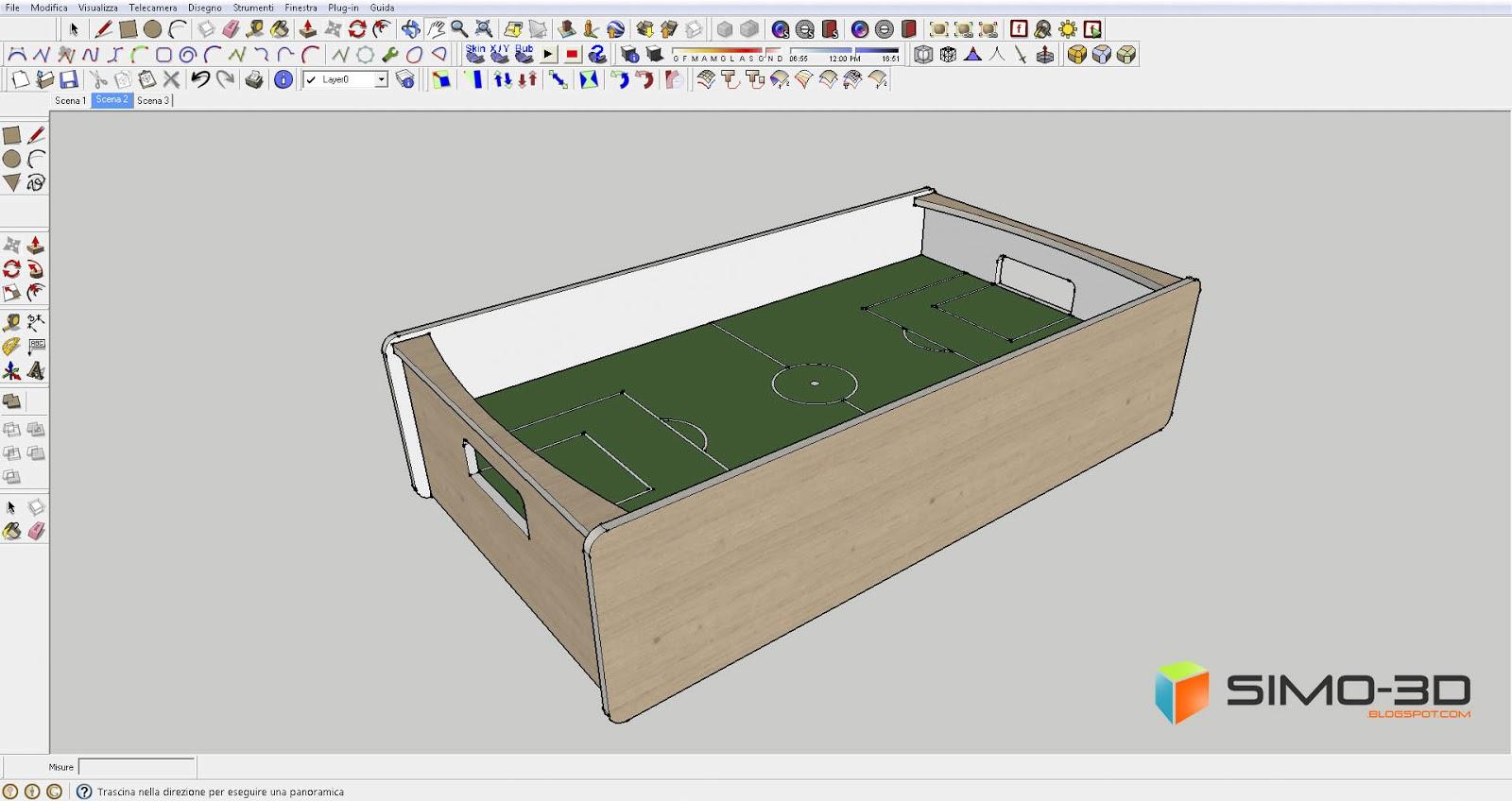 Simo sketchup tutorial costruire un for Costruire un biliardo