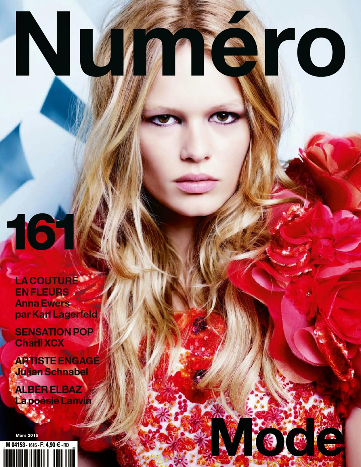 Fashion Model: Anna Ewers by Karl Lagerfeld - Numéro #161 March 2015