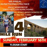 Kilmacthomas 4 miler in Waterford - Sun 16th Feb 2020