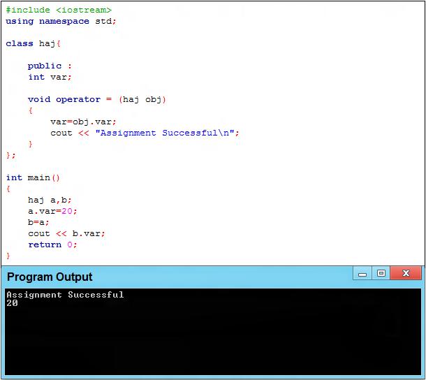 overloading assignment operator