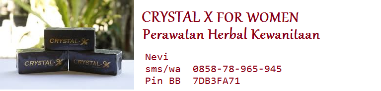 Crystal X For Women (Perawatan Herbal kewanitaan)