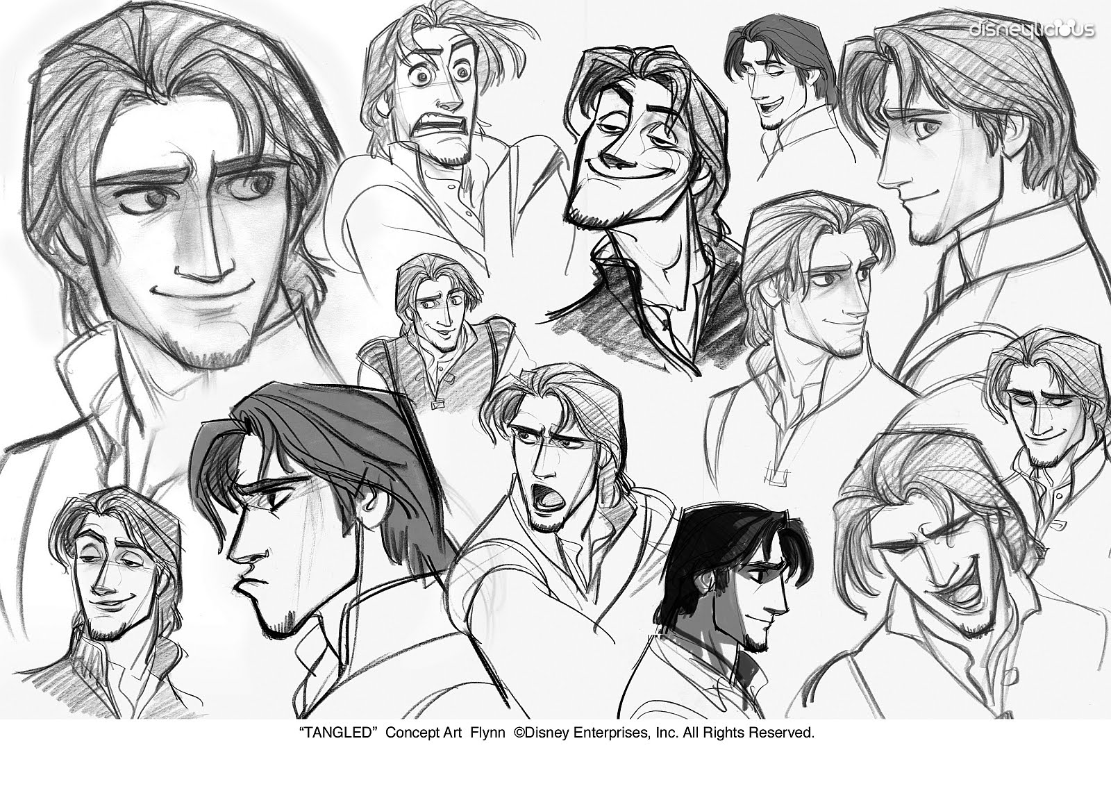 Line Drawings Of Facial Expressions : Glen keane tangled flynn imgkid the image kid