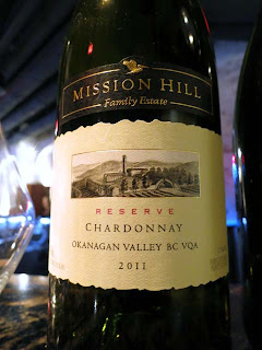 2011 Mission Hill Chardonnay Reserve - NWAC13 Gold Medal Winner