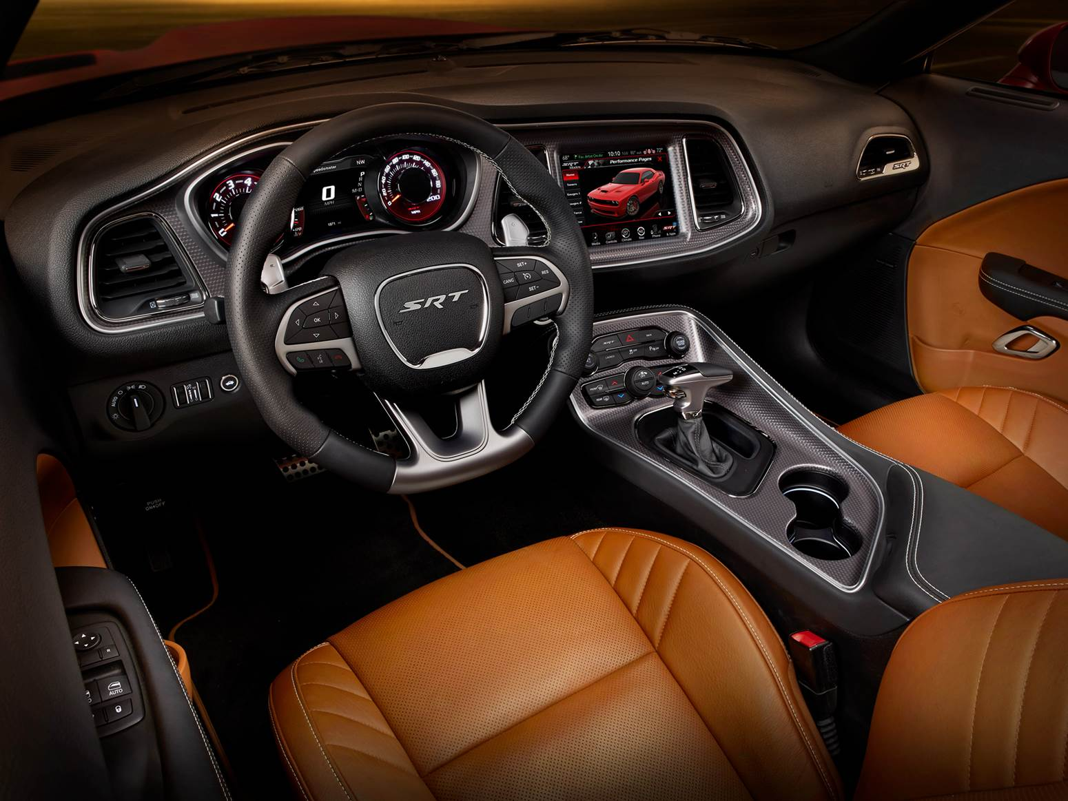 Dodge Challenger Hellcat SRT - interior