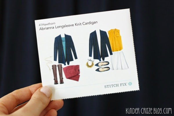 navy blue cardigan from Stitch Fix