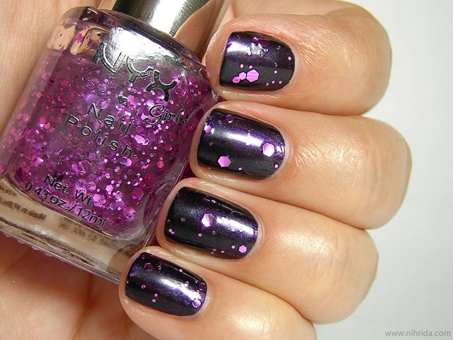 NYX Girls Nail Polish - Super Funk over Purple Noir