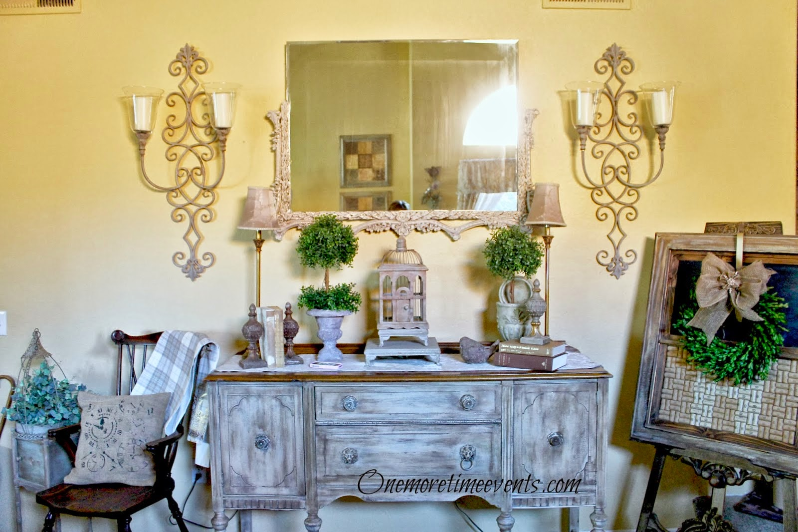 Rustic look on Buffet at One More Time Events.com