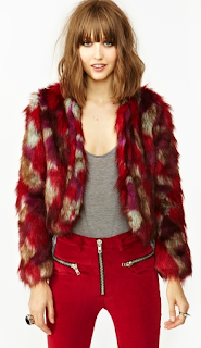 UNIF Patched Faux Fur Coat