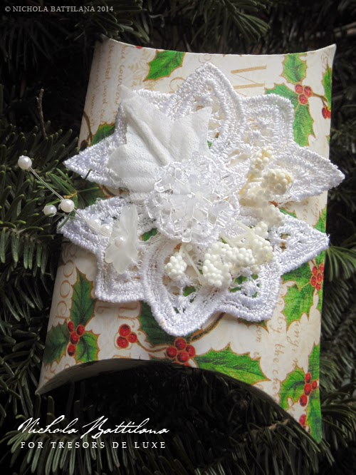Pillow Boxes by Nichola Battilana with Graphic 45 paper & Tresors de Luxe embellishments
