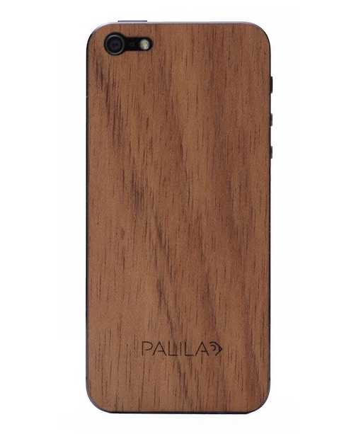 FUNDA DE IPHONE 5 DE MADERA PALILA