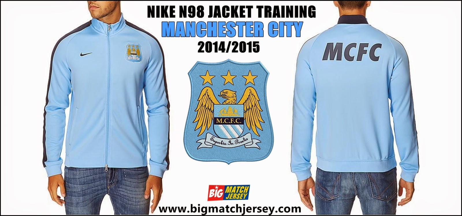 Nike Manchester City 14 15 N98 Jacket