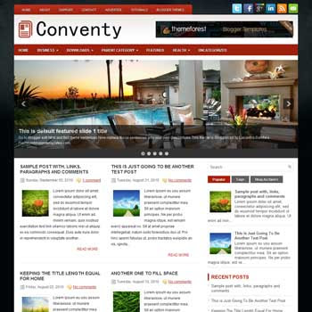 Conventy blog template. magazine blogger template style. magazine style template blogspot