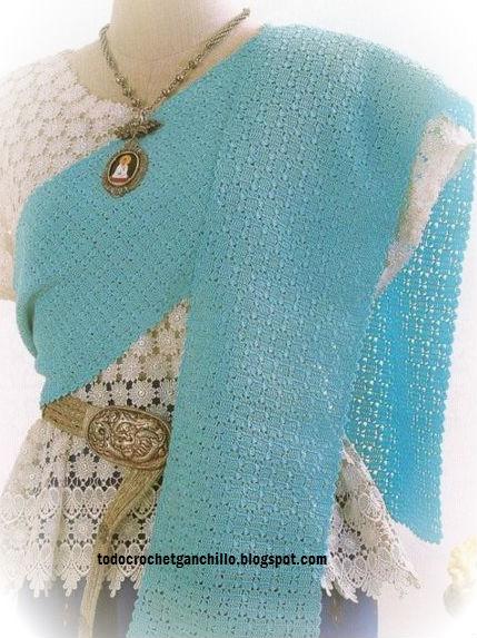 Bufanda delicada para tejer con ganchillo diagramas