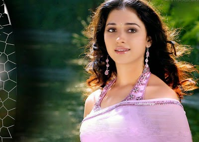 Tamanna Bhatia in purple Saree