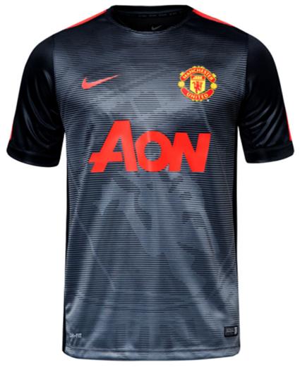 Baju Jersey Latihan Manchester United MU Grade Ori Warna Hitam Musim 2015